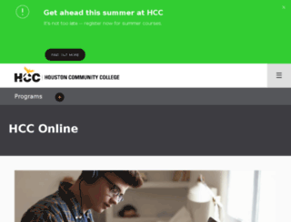 de.hccs.edu screenshot