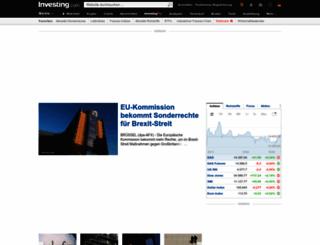 de.investing.com screenshot