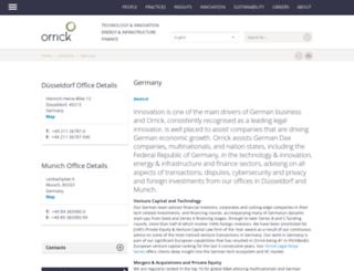 de.orrick.com screenshot