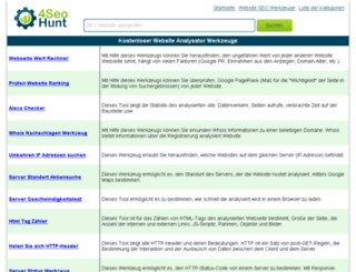 de.seohunt.biz screenshot