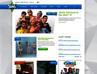 de.thesims3.com screenshot