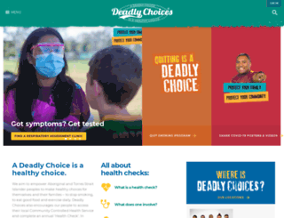 deadlychoices.com.au screenshot