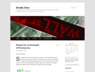 deadlyclear.wordpress.com screenshot