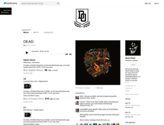 deadobies.bandcamp.com screenshot