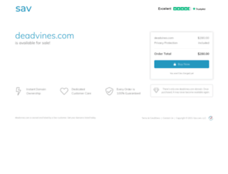 deadvines.com screenshot