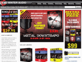 deadwinteraudio.com screenshot