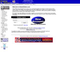 dealerorders.com screenshot