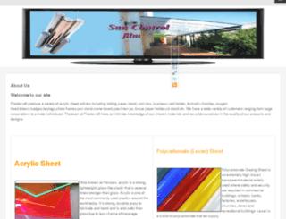 dealersofacrylic.in screenshot