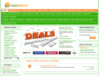 dealscatcher.co.uk screenshot