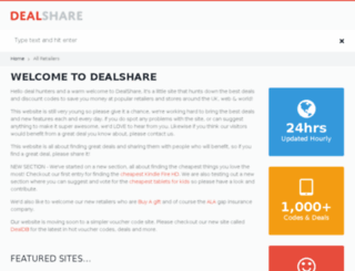 dealshare.co.uk screenshot