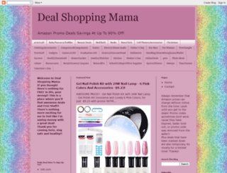 dealshoppingmama.blogspot.com screenshot