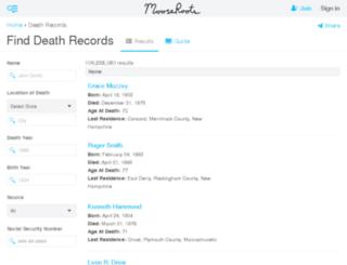 death-records.findthebest.com screenshot