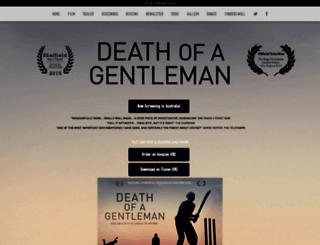 deathofagentlemanfilm.com screenshot