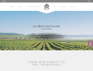 debeaurepairewines.com screenshot