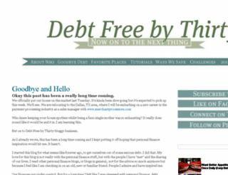 debtfreebythirty.net screenshot