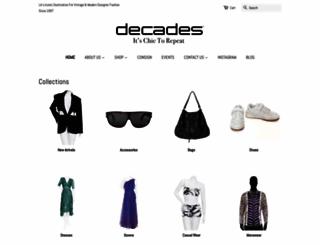 decadesinc.com screenshot