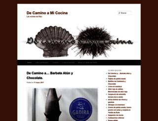 decaminoamicocina.com screenshot