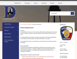 decaturpd.net screenshot