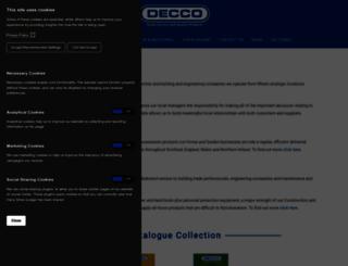 decco.co.uk screenshot