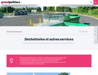 dechetteries.grandpoitiers.fr screenshot