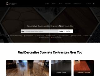 decorativeconcretefinishes.com screenshot