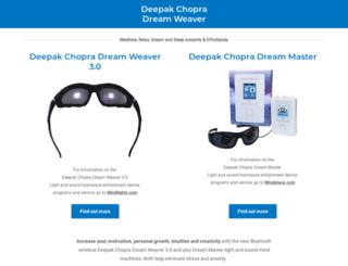 deepakchopradreamweaver.com screenshot