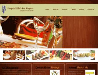 deepakedlaspotbiryani.com screenshot