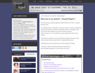 deepakrajpal.com screenshot