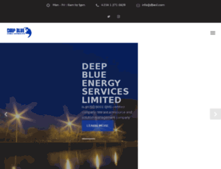 deepblueenergyservices.com screenshot