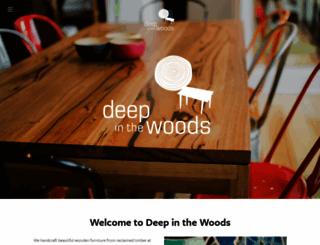 deepinthewoods.com.au screenshot