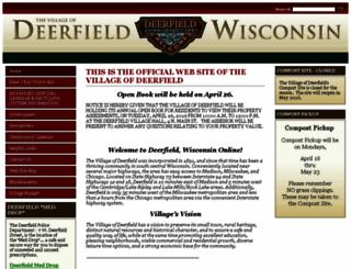 deerfieldwi.com screenshot