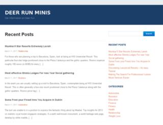 deerrunminis.com screenshot