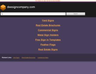 deesigncompany.com screenshot