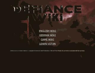 defiance-wiki.com screenshot
