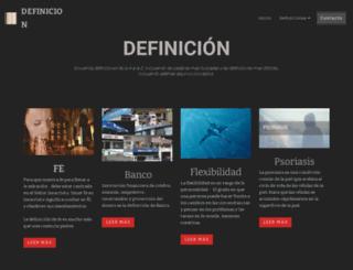 definicion.com.mx screenshot