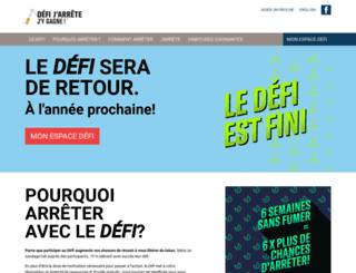 defitabac.qc.ca screenshot
