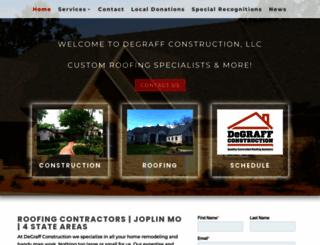 degraffconstructionllc.com screenshot