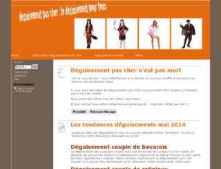 deguisement-pas-cher.info screenshot