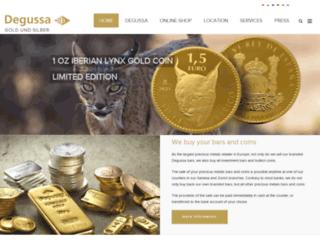 degussa-goldhandel.ch screenshot