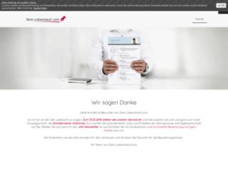 dein-lebenslauf.com screenshot