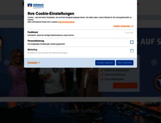 deine-volksbank.de screenshot
