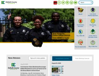 dekalbcountyga.gov screenshot
