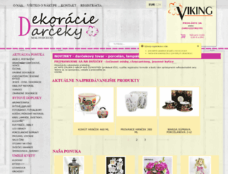 dekoracie-darceky.sk screenshot