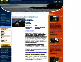 del-balatoni-ingatlanok.hu screenshot