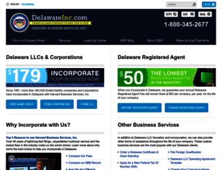 delawareinc.com screenshot