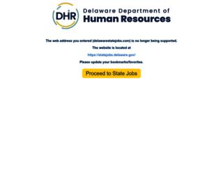 delawarestatejobs.com screenshot