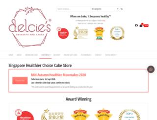 delciesdesserts.com screenshot