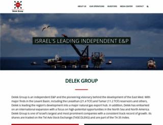 delek-group.com screenshot