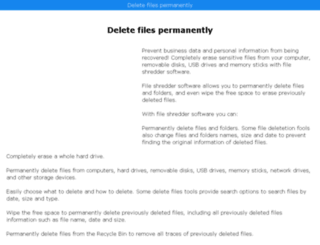 deletefilespermanently.com screenshot