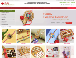 delhionlineflorists.com screenshot